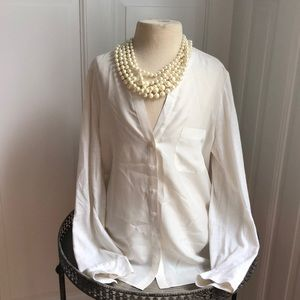 Joie Soft blouse (necklace not included), size S